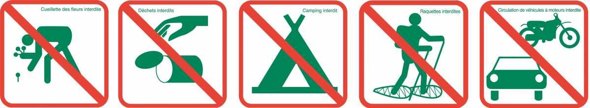 Activités interdites dans la RNR Réserve Naturelle Régionale de la tourbière des Saisies