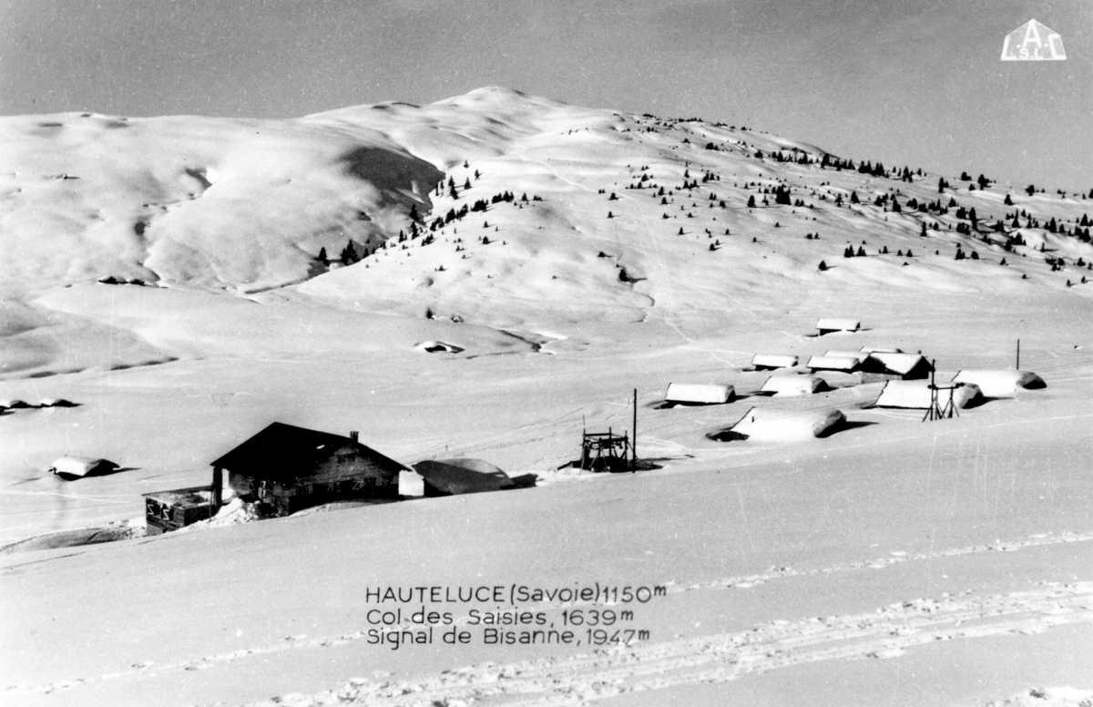 Vieille photo du Mont Bisanne sous la neige