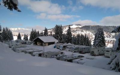Ouverture hivernale de l'aire de stationnement pour camping-cars du Grand Tétras du 1er décembre 2017 au 27 avril 2018