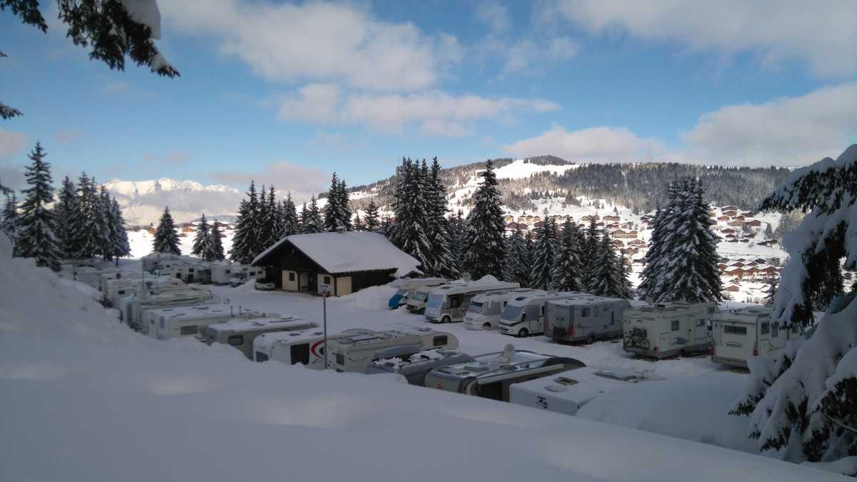 Aire de stationnement pour camping-cars du Grand Tétras