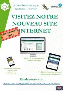Affiche nouveau site internet de la réserve naturelle