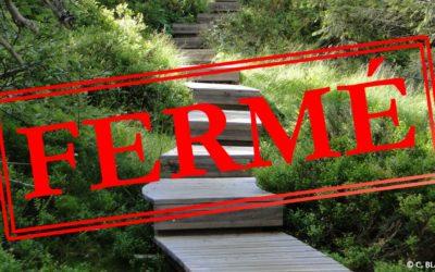 Fermeture du sentier flore et milieux naturels