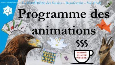 Animations hivernales proposées par la réserve naturelle