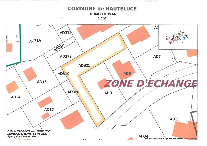 Vente de terrain aux Saisies : parcelle AD 321